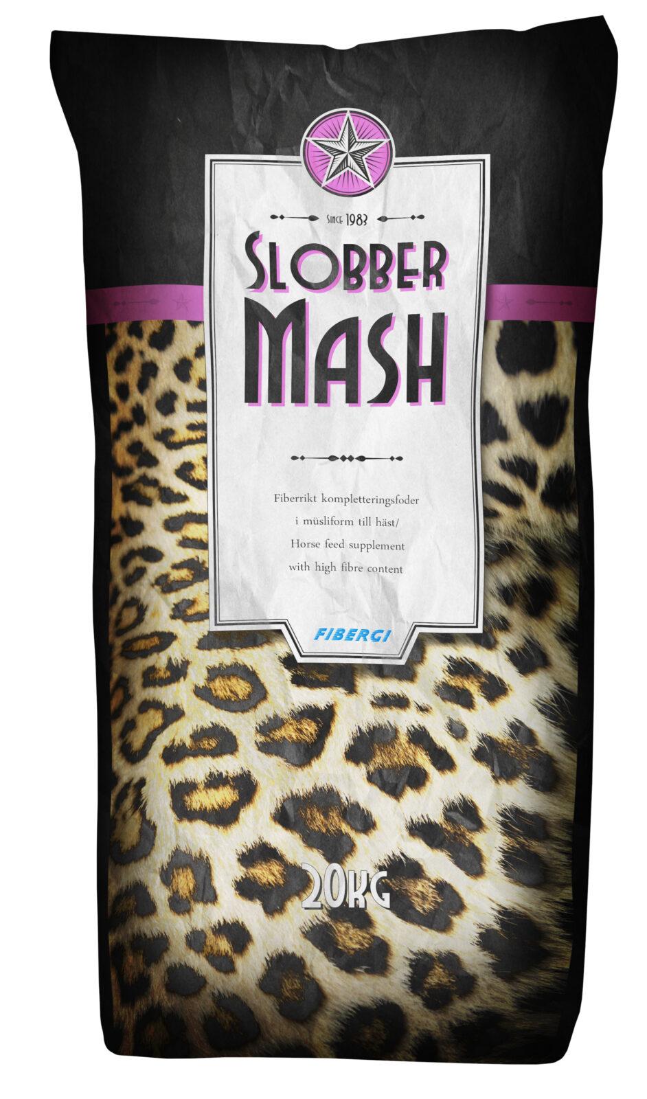 Säck med Fibergi Slobber Mash 20 kg